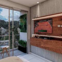 ALEXANDRIA TOWER: Habitaciones de estilo  por Constructora Cosenza,