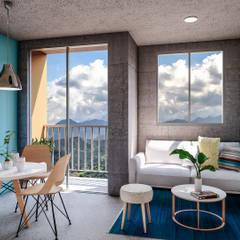 BRISAS DE BUENA VISTA : Balcón de estilo  por Constructora Cosenza