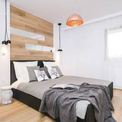 Fabryka Czekolady V: styl , w kategorii Sypialnia zaprojektowany przez Justyna Lewicka Design