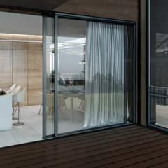 Mid-century apartment 350 m.: Tерраса в . Автор – YermolovDesign
