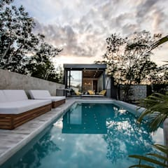 Infinity pool by Obed Clemente Arquitectura, Tropical Concrete