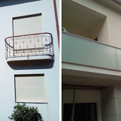 Fachada principal: Varandas  por Obr&Lar - Remodelação de Interiores