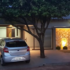 Casas unifamiliares de estilo  por Alessandro Ramos Arquitetura
