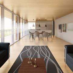 Casa Velasquez: Casas de estilo  por Bsestudio