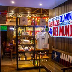 Restaurantes de estilo  por AM MAS ARQUITECTOS , Rústico