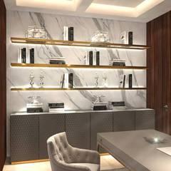 Acondicionamiento de espacios y muebles sobre diseño.: Estudios y oficinas de estilo  por Brenno il mobile,