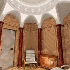 Saunas de estilo  por Хамам-мозаика