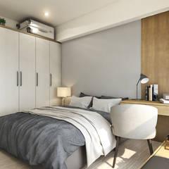غرفة نوم تنفيذ 木博士團隊/動念室內設計制作