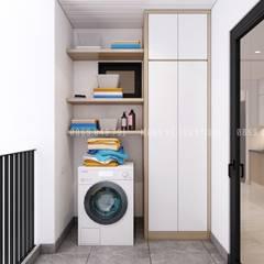Thiết kế nội thất căn hộ chung HaDo Centrosa Garden 86m2 có 2 phòng ngủ - Cô Hồng, Quận 10, TP.HCM:  Mái hiên by Công ty TNHH Nội Thất Mạnh Hệ