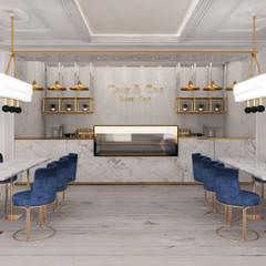 Only & One Royal Cafe:  Bars & clubs door Deev Design, Modern Marmer