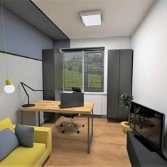 Mieszkanie w Krakowie 60m: styl , w kategorii Domowe biuro i gabinet zaprojektowany przez Katarzyna Wnęk