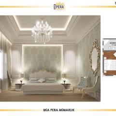 Miapera MİMARLIK  – VİLLA TASARIM UYGULAMA SUDİ:  tarz Küçük Yatak Odası,