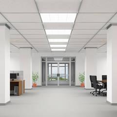 Cielorrasos - Tabiques - Revestimientos: Estudios y oficinas de estilo  por Tau Construcciones