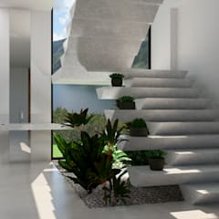 Escaleras de estilo  por Iuri Pollon Arquitetura & Design, Minimalista Ladrillos
