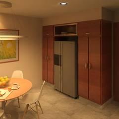 Proyectos Varios: Muebles de cocinas de estilo  por Arq Eduardo Galan, Arquitectura y paisajismo, Moderno