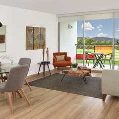 apartamento modelo: Oficinas y Comercios de estilo  por Fotografía Oscar Martínez Celis