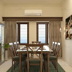 :  Dining room by Monnaie Architects & Interiors