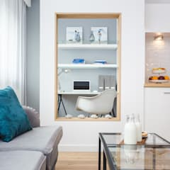 Fabryka Czekolady VI: styl , w kategorii Domowe biuro i gabinet zaprojektowany przez Justyna Lewicka Design