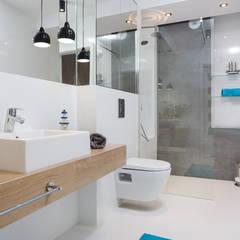 Fabryka Czekolady VI: styl , w kategorii Łazienka zaprojektowany przez Justyna Lewicka Design