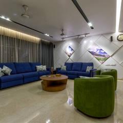 Salas de estilo asiático de Studio Living Stone Asiático