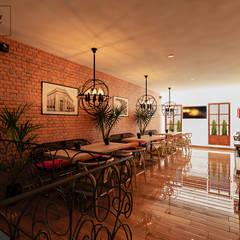 Restaurantes de estilo  por Citlali Villarreal Interiorismo & Diseño