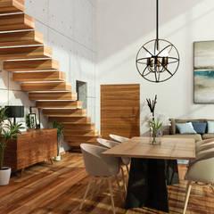 Casa frente al Lago de Chapala: Comedores de estilo  por Citlali Villarreal Interiorismo & Diseño, Escandinavo