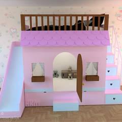 غرفة نوم بنات تنفيذ Happy Kids Muebles