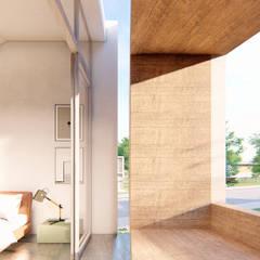 Balcón de estilo  por Franthesco Spautz Arquitetura