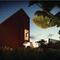 Chalets de estilo  por Franthesco Spautz Arquitetura