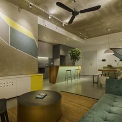 Oficinas y Tiendas de estilo  por Công ty Thiết Kế Xây Dựng Song Phát