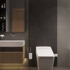 thiết kế nội thất căn hộ hiện đại cityland:  Phòng tắm by nội thất căn hộ hiện đại CEEB