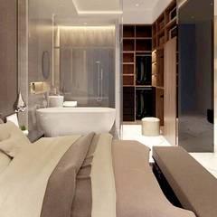 اتاق خواب by nội thất căn hộ hiện đại CEEB