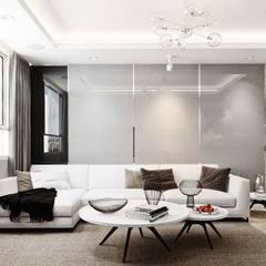 thiết kế nội thất căn hộ sang trọng Novaland Quận 2:  Phòng khách by nội thất căn hộ hiện đại CEEB