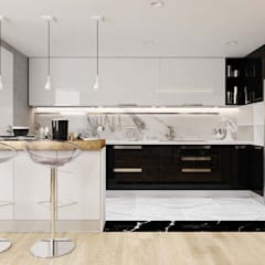 thiết kế nội thất căn hộ sang trọng Novaland Quận 2:  Nhà bếp by nội thất căn hộ hiện đại CEEB, Hiện đại
