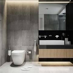 thiết kế nội thất căn hộ sang trọng Novaland Quận 2:  Phòng tắm by nội thất căn hộ hiện đại CEEB