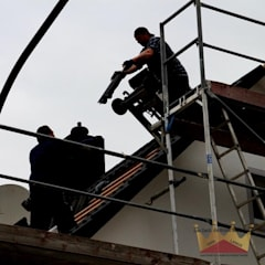 سقف جمالون تنفيذ Dachdeckermeisterbetrieb Dirk Lange | Büro Herford