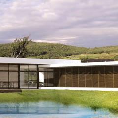 CASA DE CAMPO: Casas do campo e fazendas  por Franthesco Spautz Arquitetura