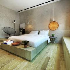 RESIDÊNCIA PARA A ALMA: Quartos  por Franthesco Spautz Arquitetura