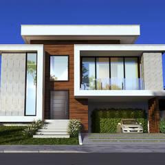 Condominios de estilo  por Gelker Ribeiro Arquitetura | Arquiteto Rio de Janeiro, Moderno Derivados de madera Transparente