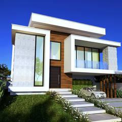 de Gelker Ribeiro Arquitetura | Arquiteto Rio de Janeiro Rústico Derivados de madera Transparente