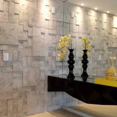 Casa KL: Corredores e halls de entrada  por Lara Arquitetura