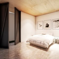 CASA  PLANALTO: Quartos  por Franthesco Spautz Arquitetura