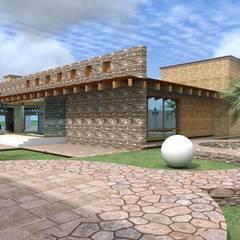 Rock Garden by Arquitectura & Diseño , Mediterranean Wood Wood effect