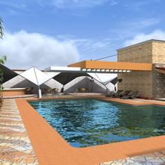 Proyecto | Casa Castellanos: Albercas de jardín de estilo  por Arquitectura & Diseño