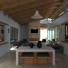 Proyecto | Casa Castellanos: Salas de estilo  por Arquitectura & Diseño , Mediterráneo Cerámico