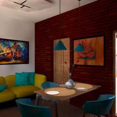 Remodelación y ampliación | Departamentos 65: Salas de estilo  por Arquitectura & Diseño , Escandinavo Ladrillos