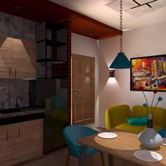 Remodelación y ampliación | Departamentos 65: Cocinas pequeñas de estilo  por Arquitectura & Diseño , Escandinavo Cerámico