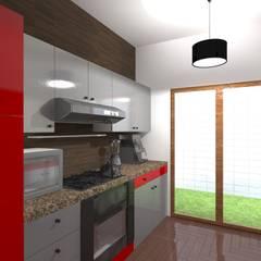 Remodelación y ampliación | Departamentos 65: Cocinas equipadas de estilo  por Arquitectura & Diseño , Escandinavo Aluminio/Cinc