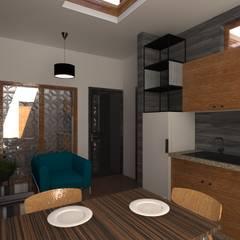 Remodelación y ampliación | Departamentos 65: Salas de estilo  por Arquitectura & Diseño , Escandinavo Cerámico