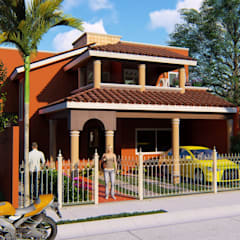 Casa López2: Casas unifamiliares de estilo  por JL2 Arquitectura y Urbanismo
